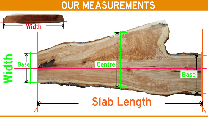 wood slab measurements